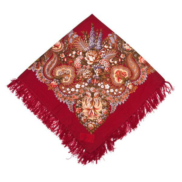 """Russian shawl """"Over a silver water 734-6"""""""