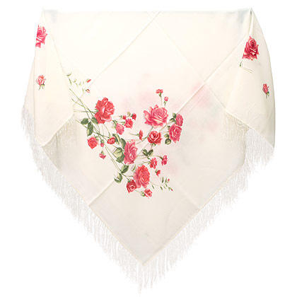 "Russian shawl ""Roses on the snow 1227-1"""