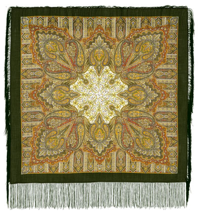 "Russian shawl ""Contemplation 1157-10"""