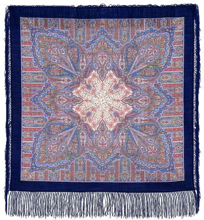 "Russian shawl ""Contemplation 1157-13"""