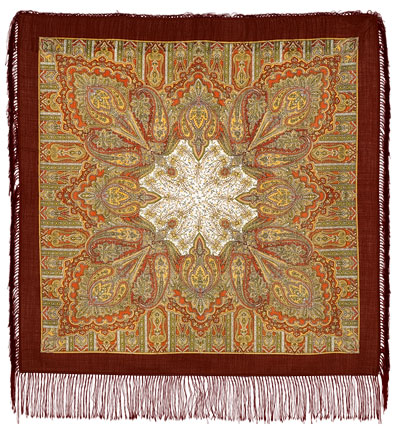 "Russian shawl ""Contemplation 1157-17"""