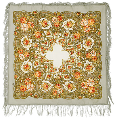 "Russian shawl ""Amber evening 1222-2"""