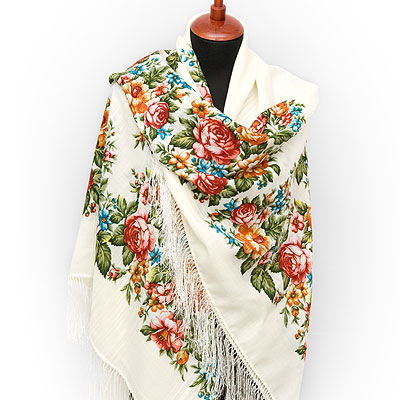 "Russian shawl ""Spring flowering 1379-4"""