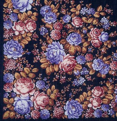 "Russian shawl ""Flower story 1458-14"""