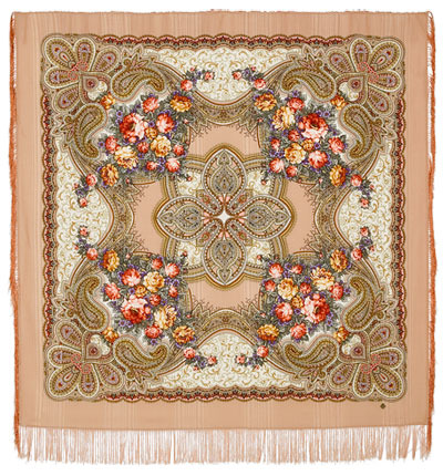 "Russian shawl ""Loves desired time 1537-1"""