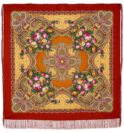 "Russian shawl ""Loves desired time 1537-16"""