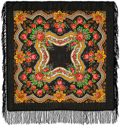 "Russian shawl ""Golden leaves 146-18"""