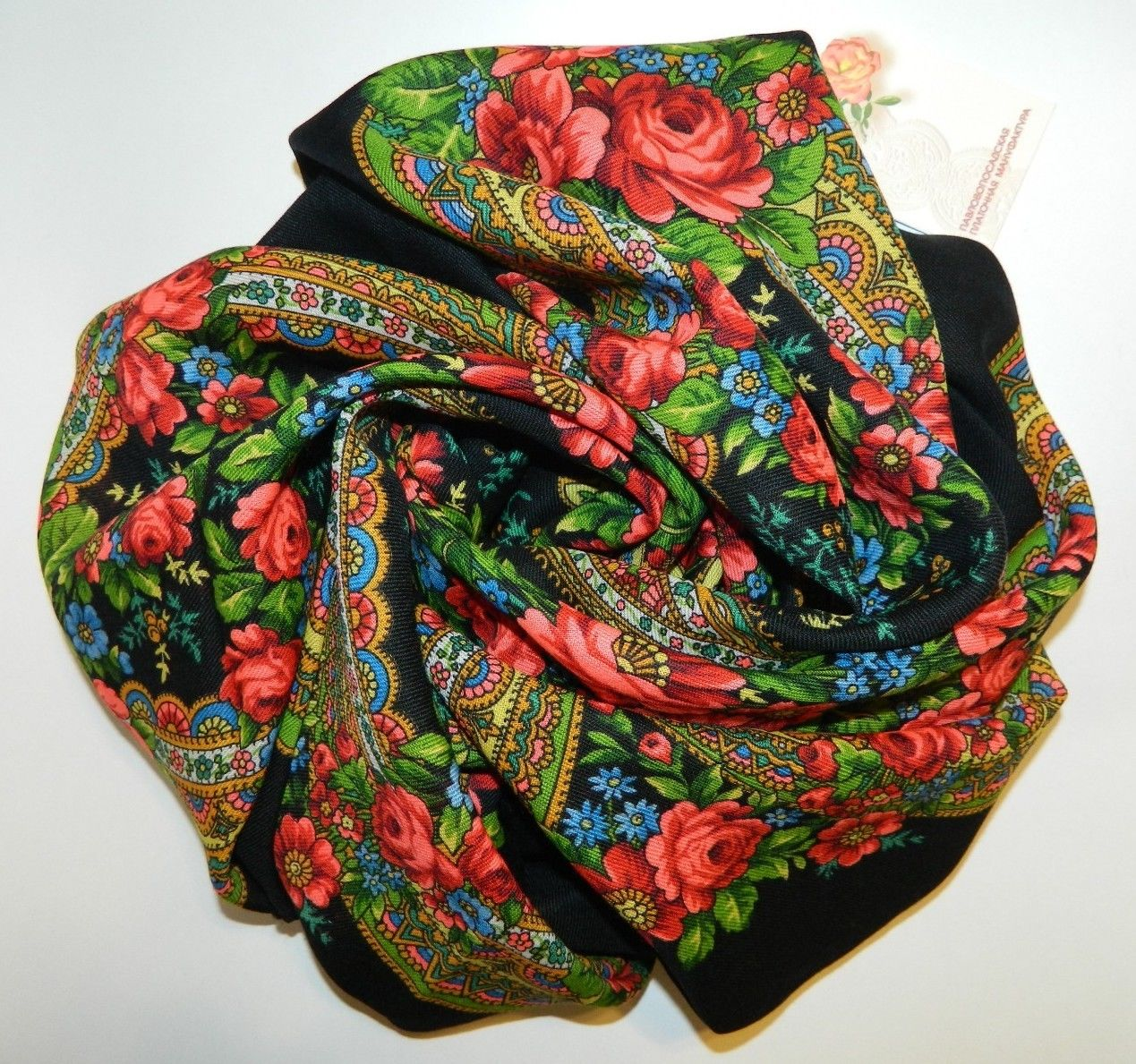 "Russian shawl ""Evening 685-18"""