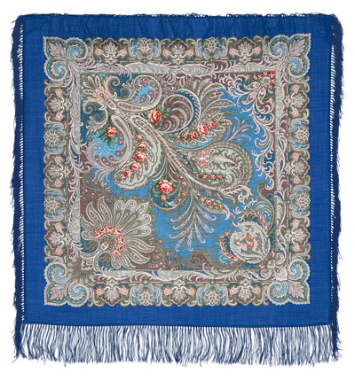 "Russian shawl ""At the dark blue sea 681-13"""