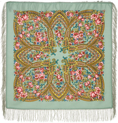 "Russian shawl ""Evening 685-12"""