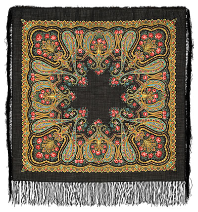 "Russian shawl ""Christmas 766-18"""