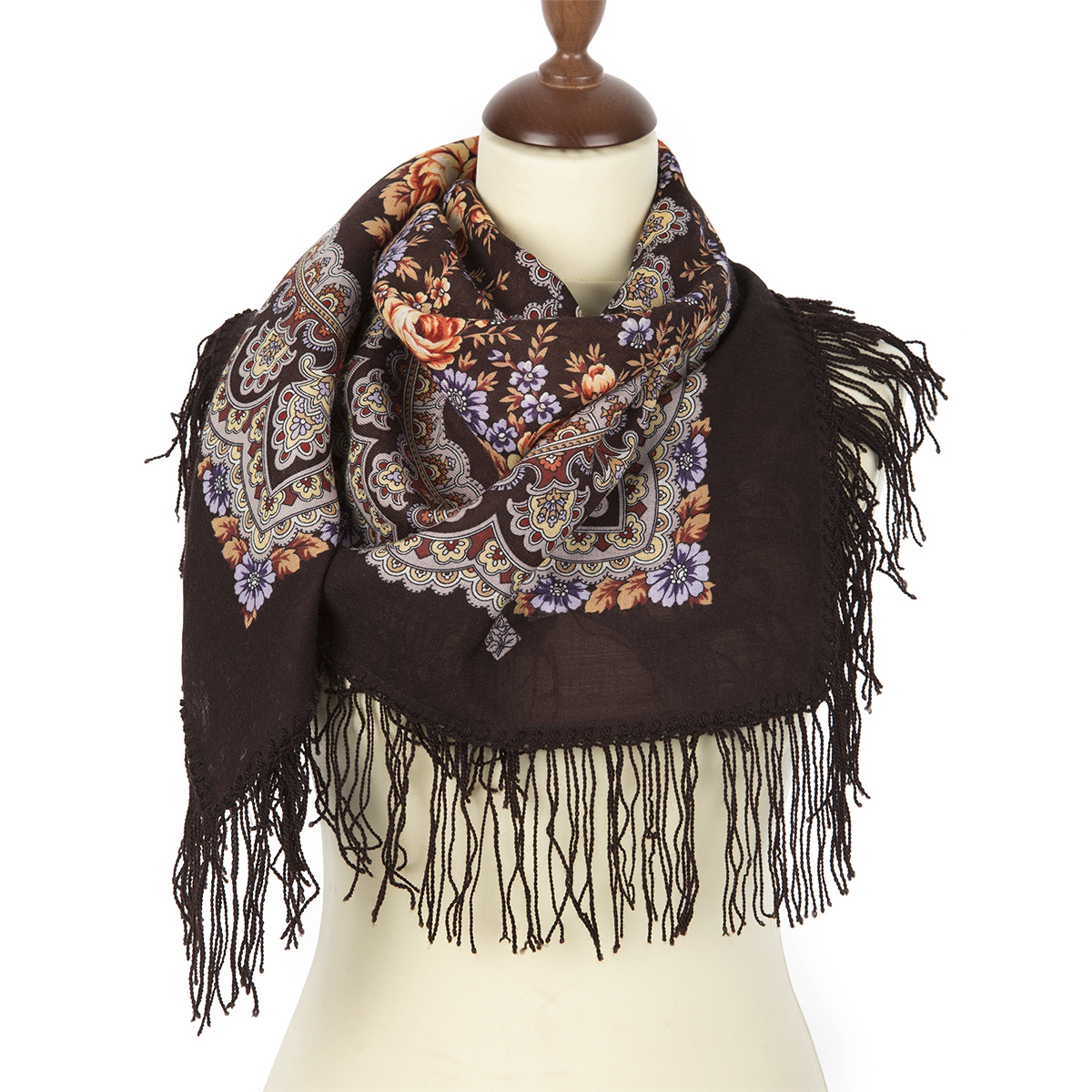 "Russian shawl ""Gentle evening 1195-17"""