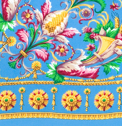 "Russian shawl ""Wind song 1337-13"""