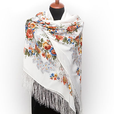 "Russian shawl ""First rendezvous 1384-2"""