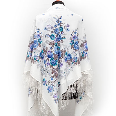 """Russian shawl """"First rendezvous 1384-4"""""""