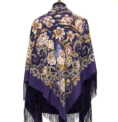 "Russian shawl ""Royal ball 1470-13"""