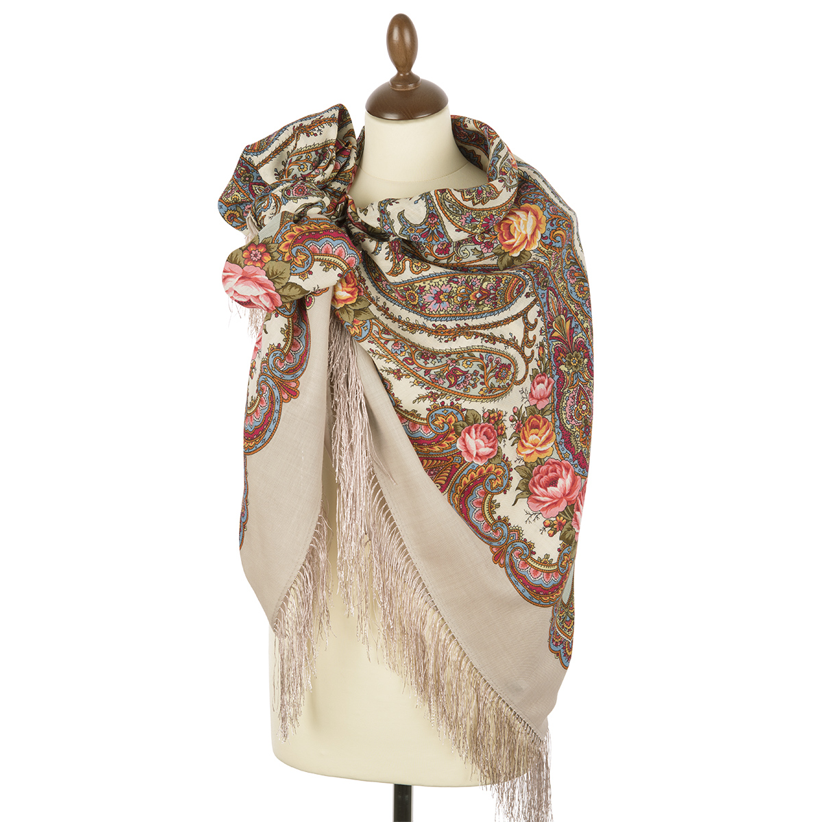 "Russian shawl ""In a whirlwind of dance 1567-2"""