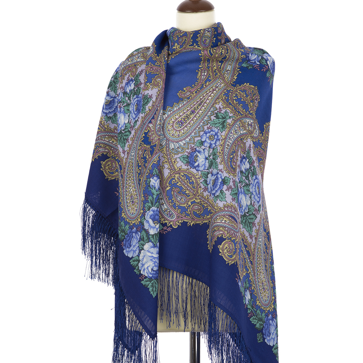 "Russian shawl ""Goodbye hour 1570-14"""