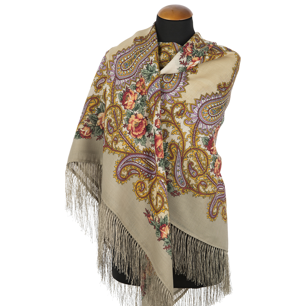 "Russian shawl ""Goodbye hour 1570-2"""