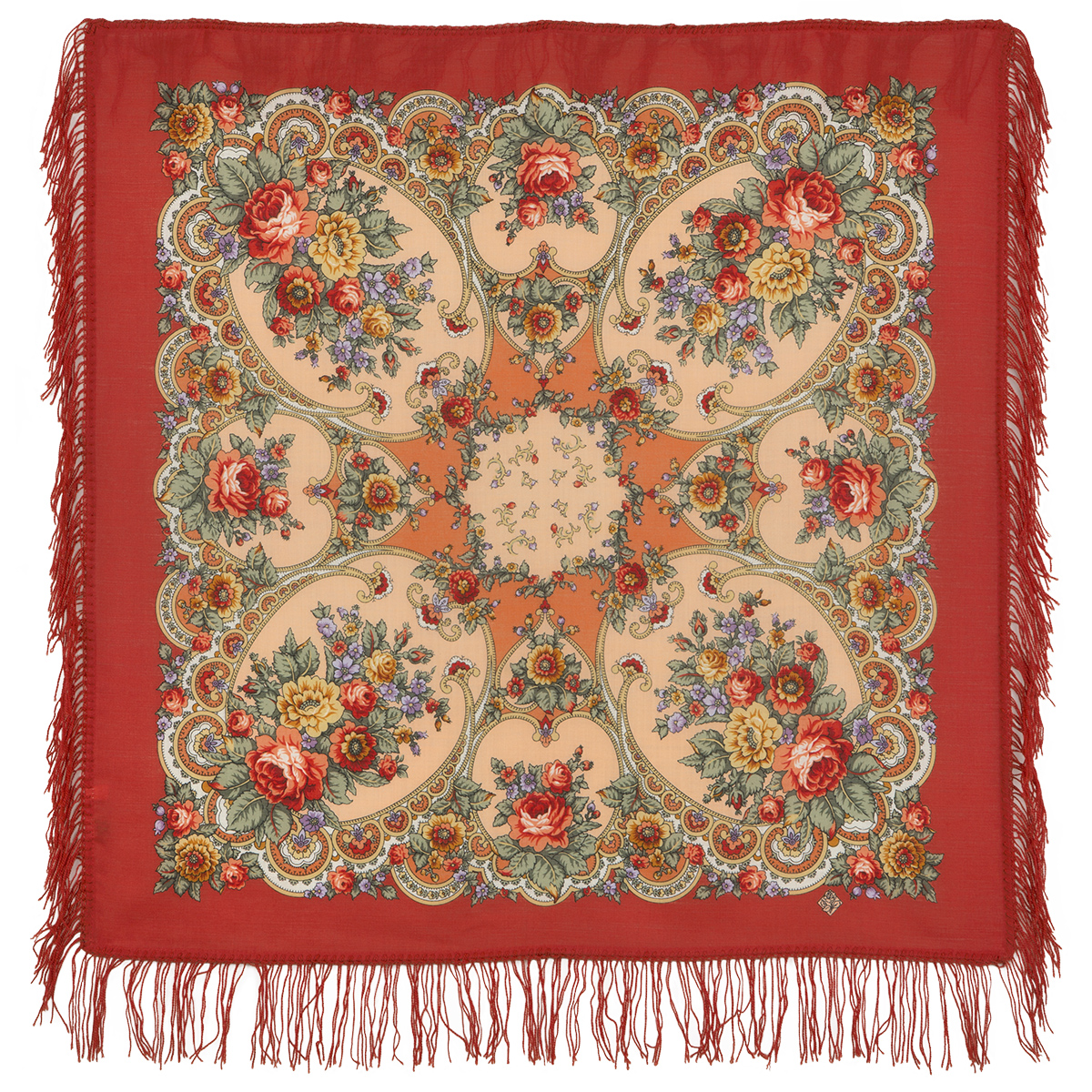 "Russian shawl ""Gentle hugs 1641-3"""