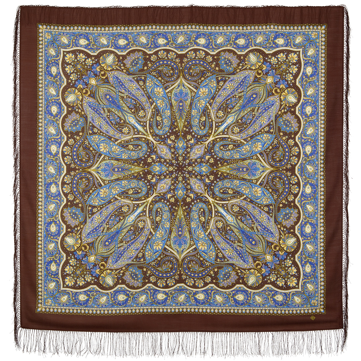 "Russian shawl ""Ginger 1496-17"""
