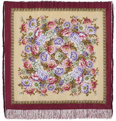"Russian shawl ""Coast of Dreams 1389-6"""