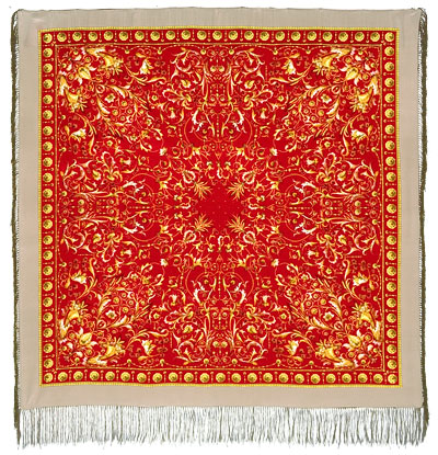 "Russian shawl ""Wind song 1337-1"""