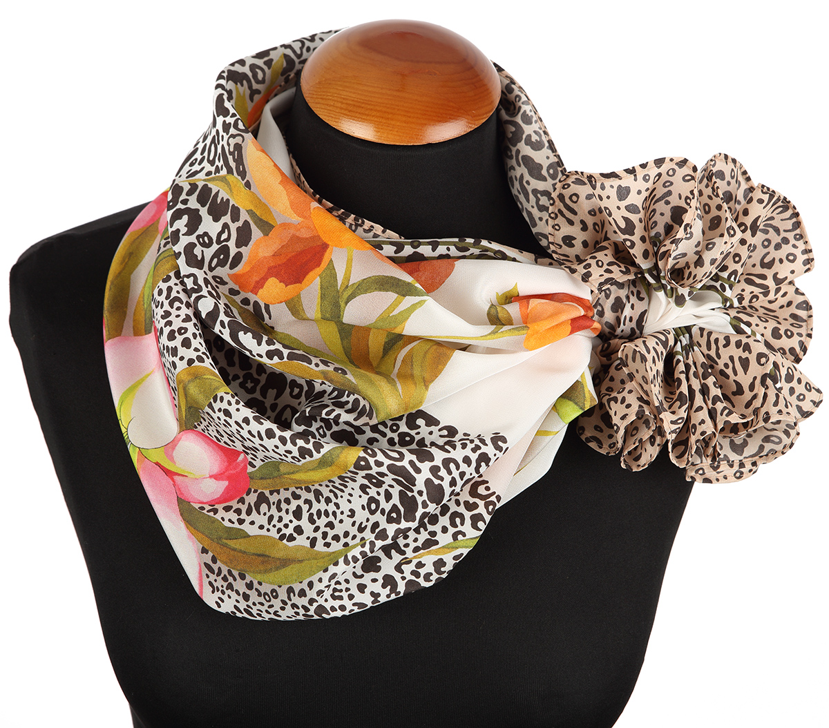 "Russian scarf ""Silk touch 10010-2"""