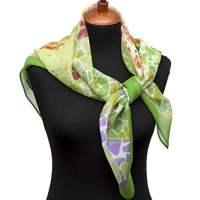 "Russian scarf ""Park Guell 1417-9"""