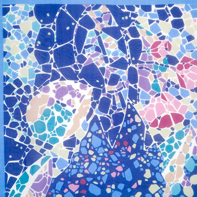 "Russian scarf ""Park Guell 1417-13"""