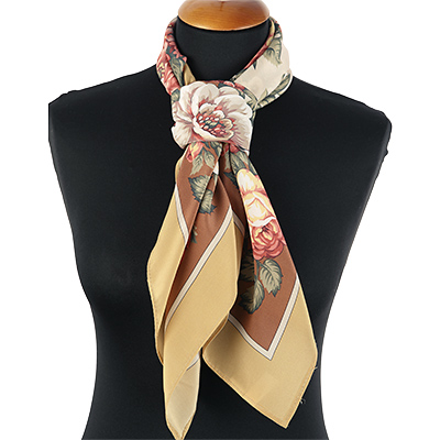 "Russian scarf ""Tea roses 1443-2"""
