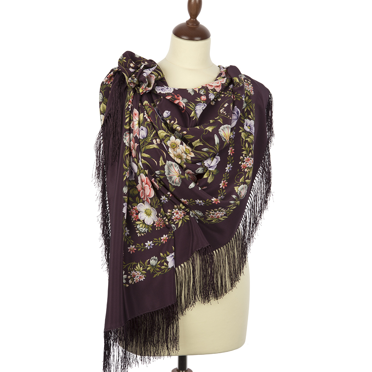 "Russian shawl ""Blooming spring 1562-8"""
