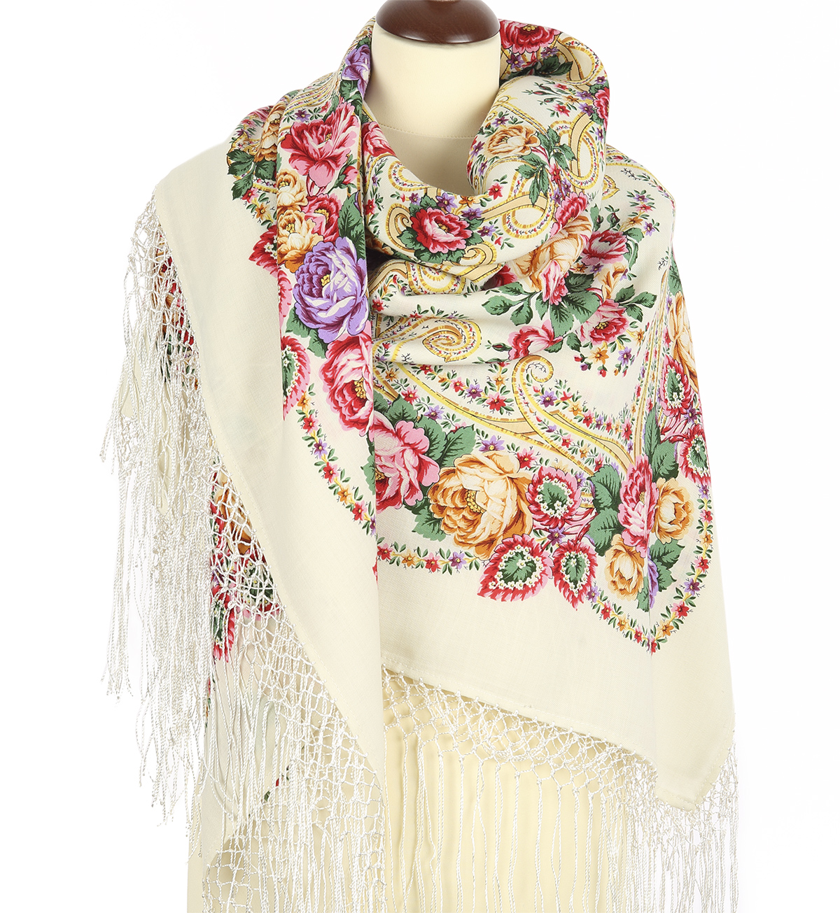 "Russian shawl ""Frost and sun 1569-1"""