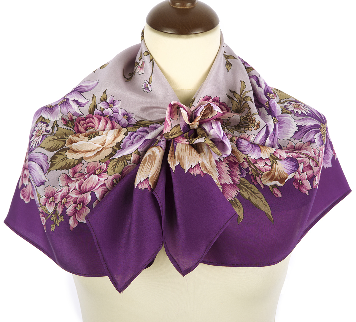 "Russian scarf ""Flowers for the beloved 1595-15"""