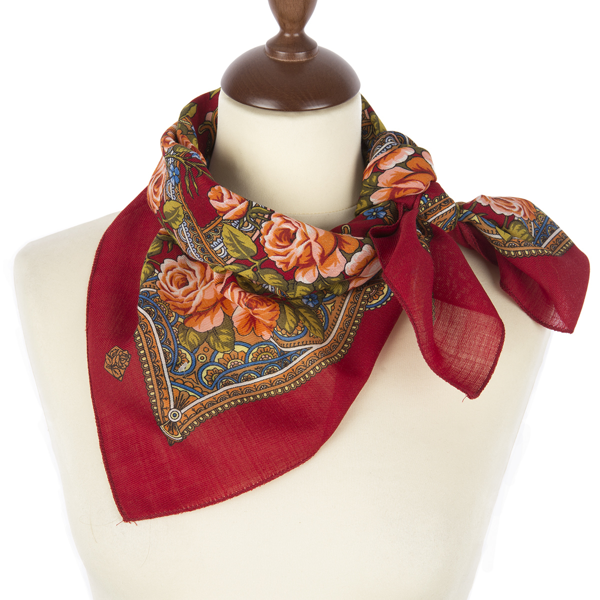 "Russian shawl ""Flower basket 1598-6"""