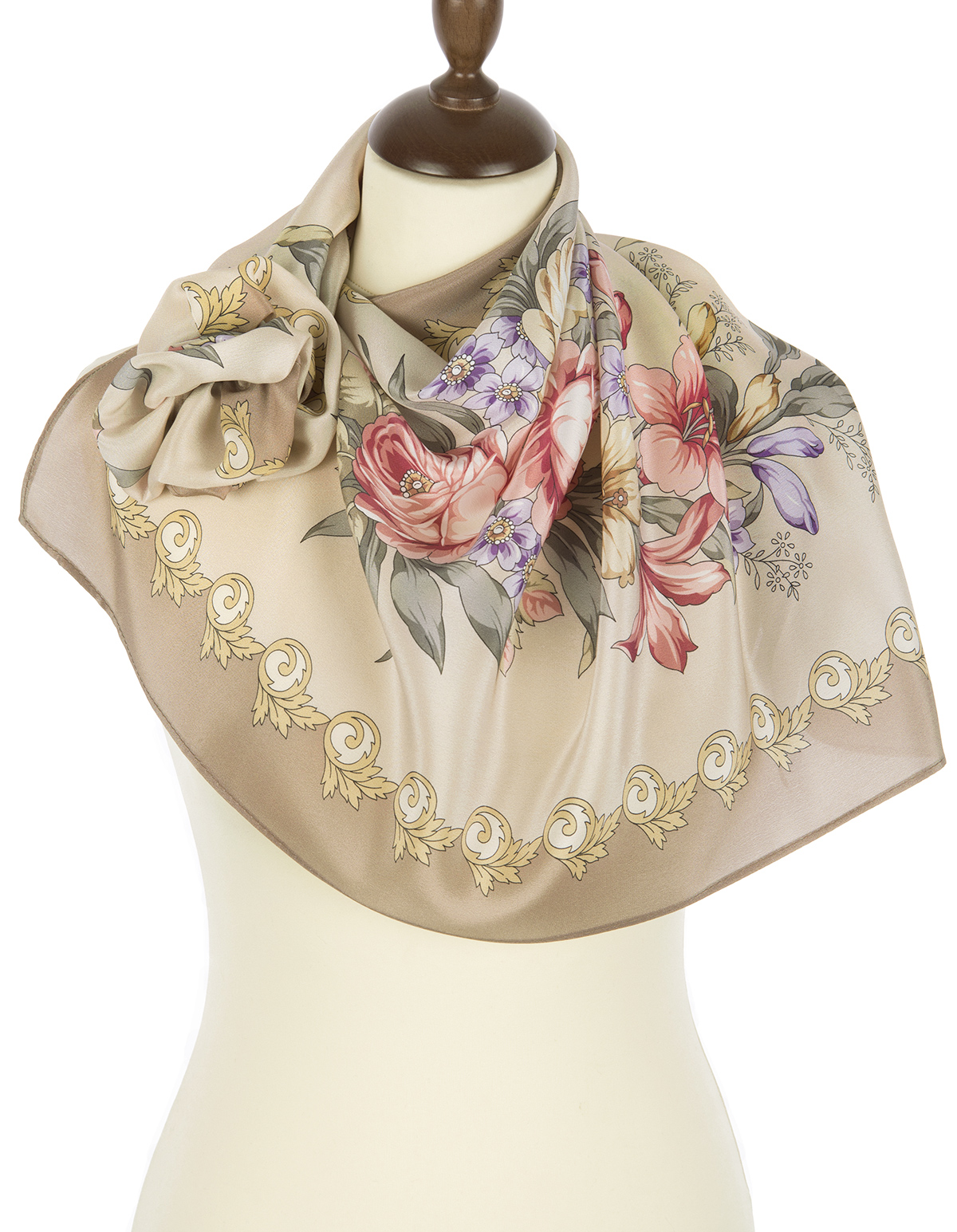 "Russian scarf ""Gentle echoes 1601-1"""