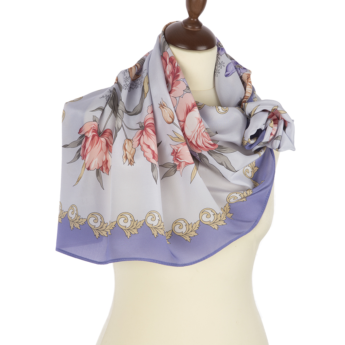 "Russian scarf ""Gentle echoes 1601-2"""