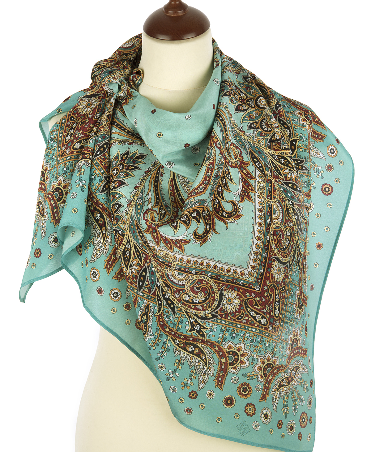 "Russian scarf ""Coral breeze 1603-11"""