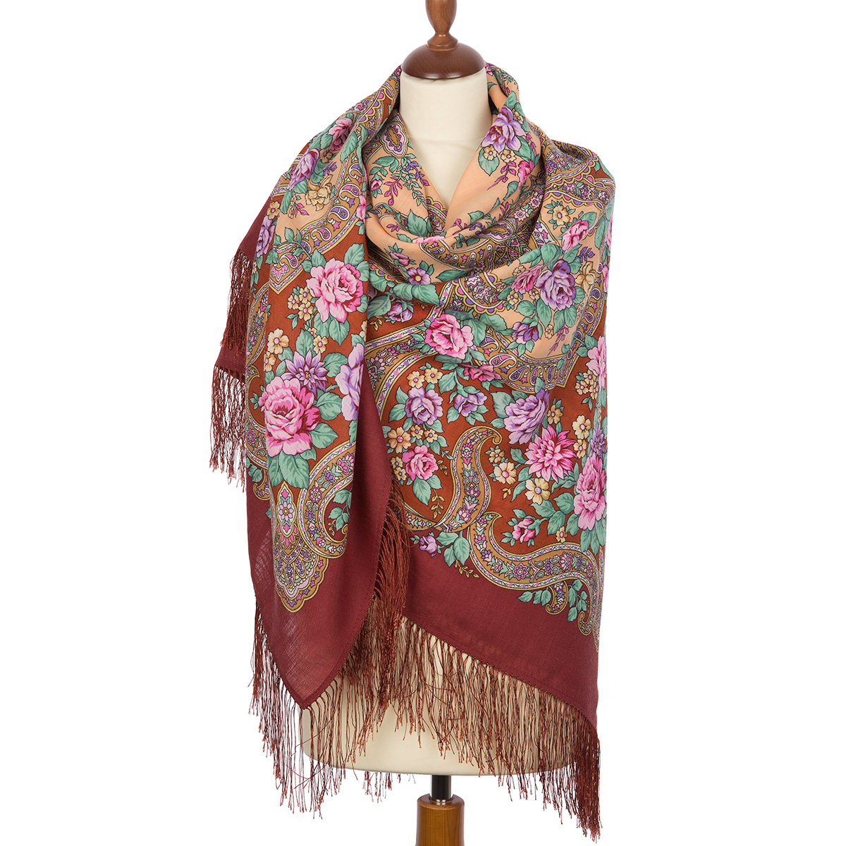 """Russian shawl """"In the world of love 1674-6"""""""
