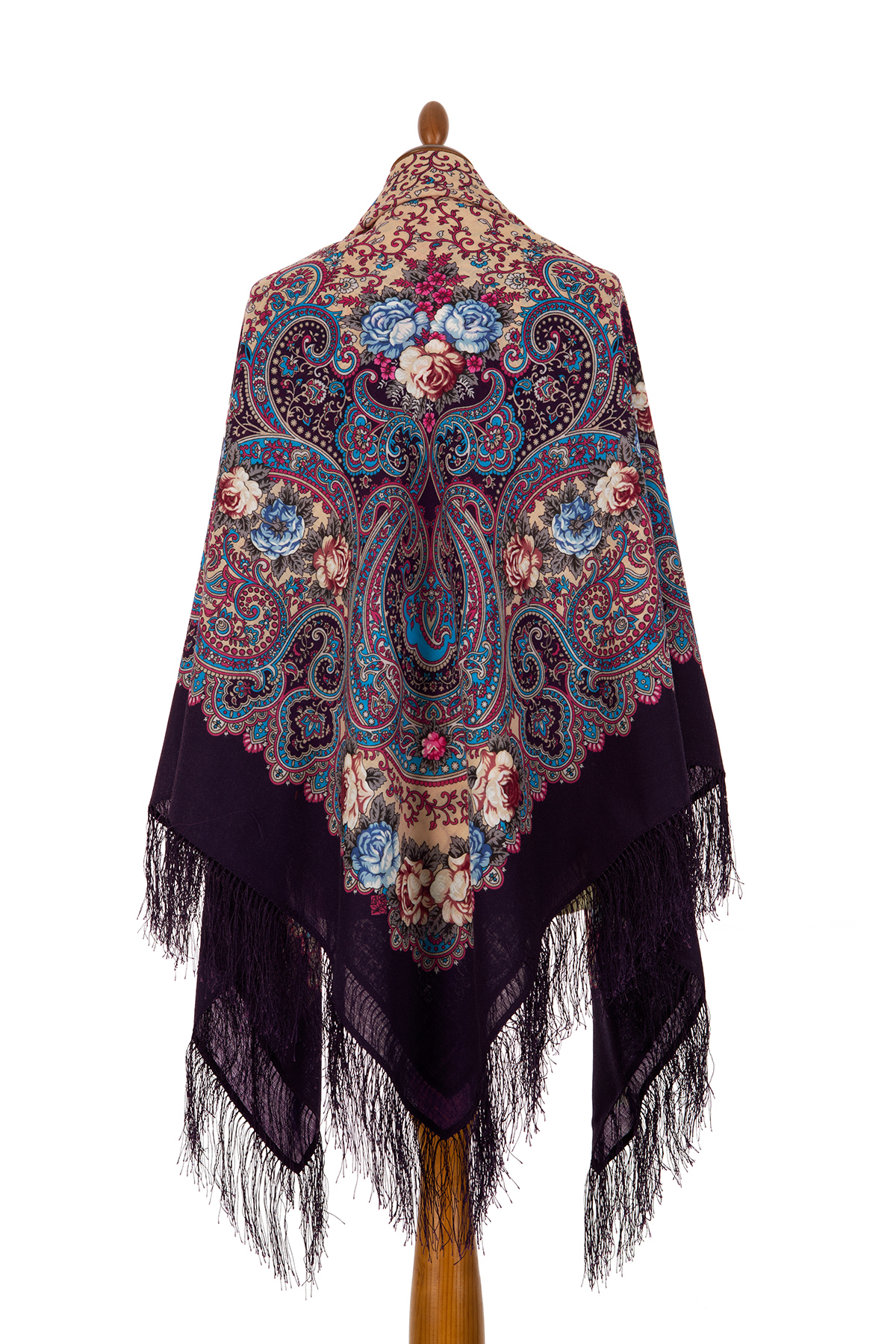"Russian shawl ""The celebration of the summer 1694-15"""