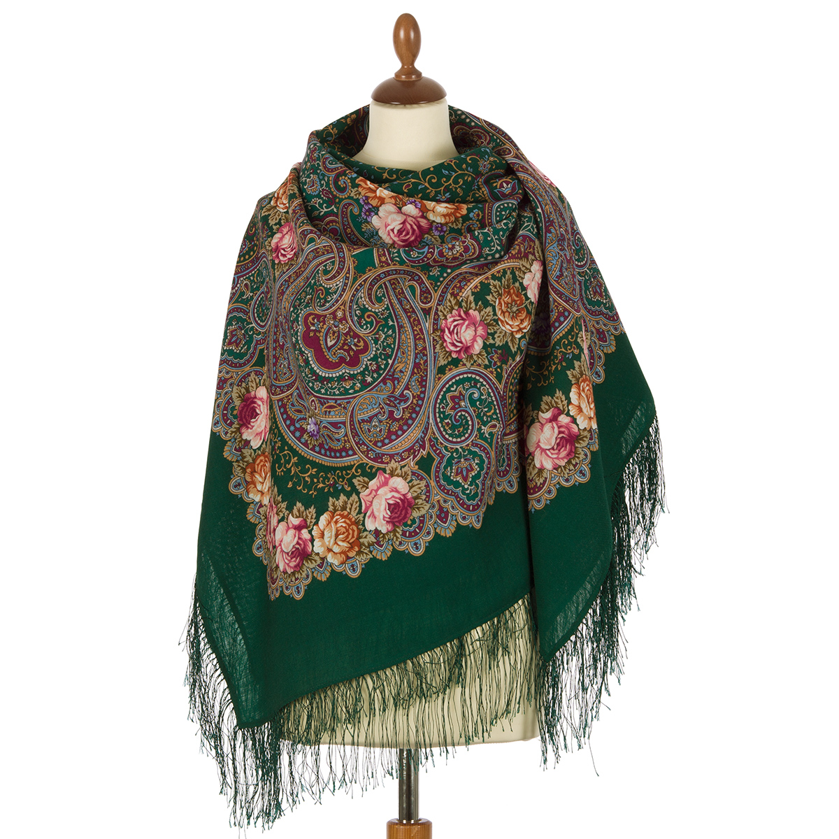 "Russian shawl ""The celebration of the summer 1694-9"""