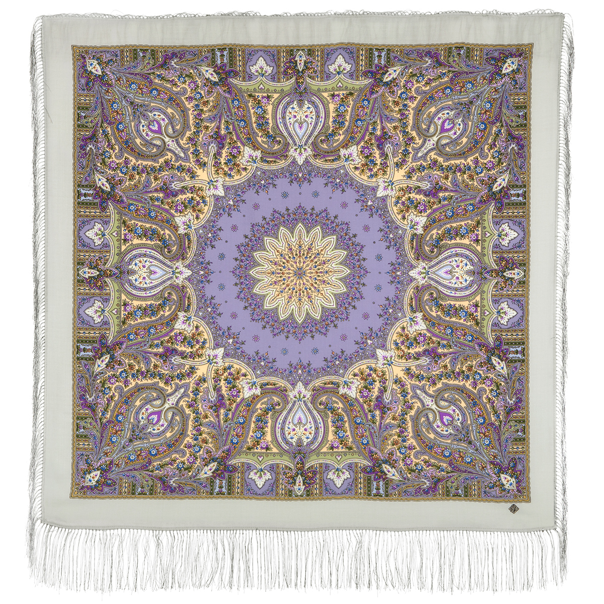 "Russian shawl ""Wild honey 1712-1"""
