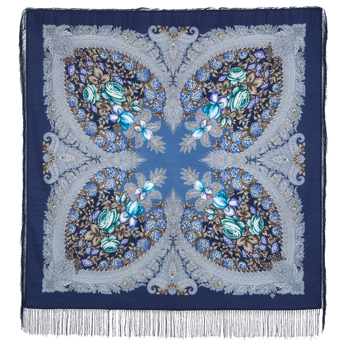 "Shawl ""On the crest of a wave 1735-1"""