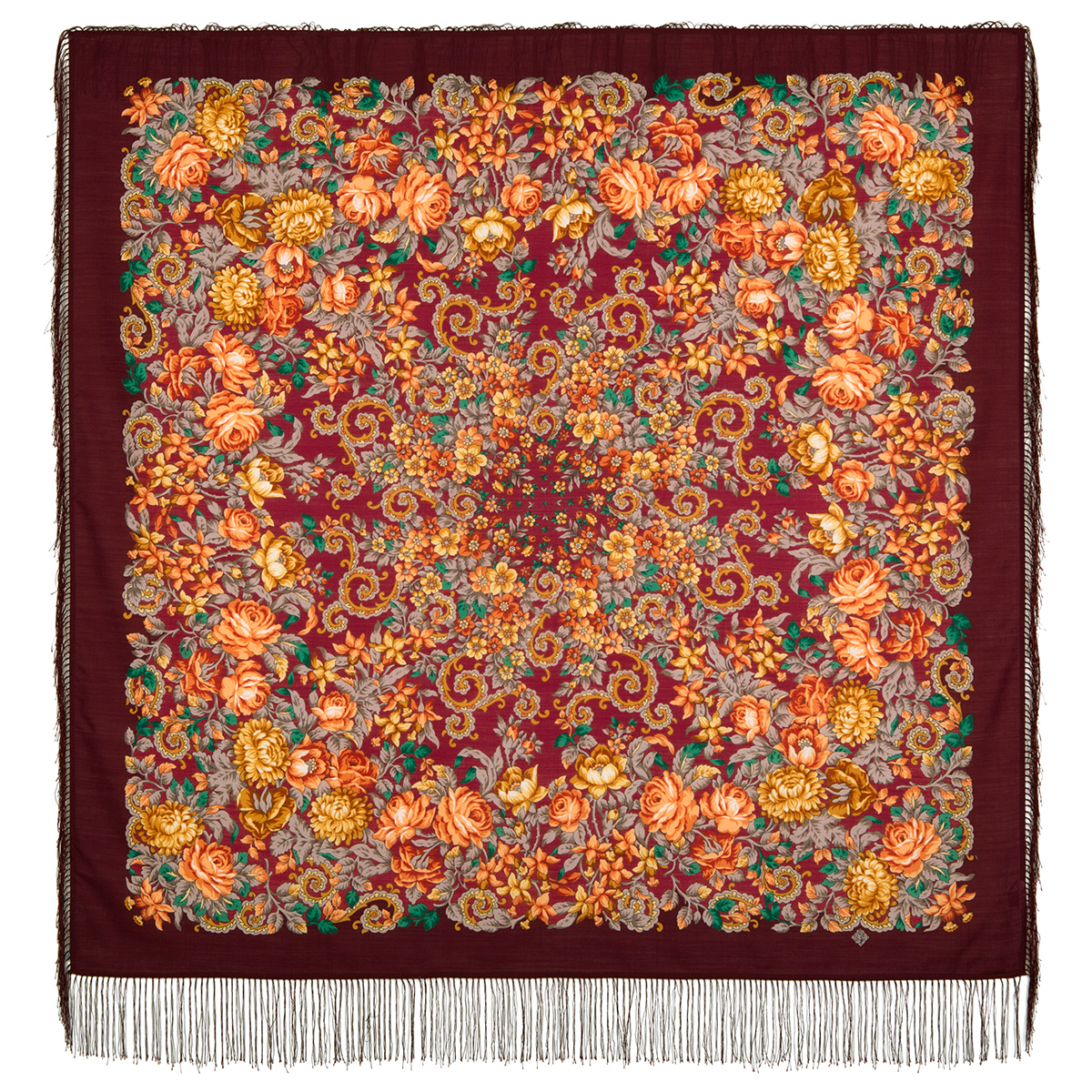"Russian shawl ""The tired sun 511-7"""