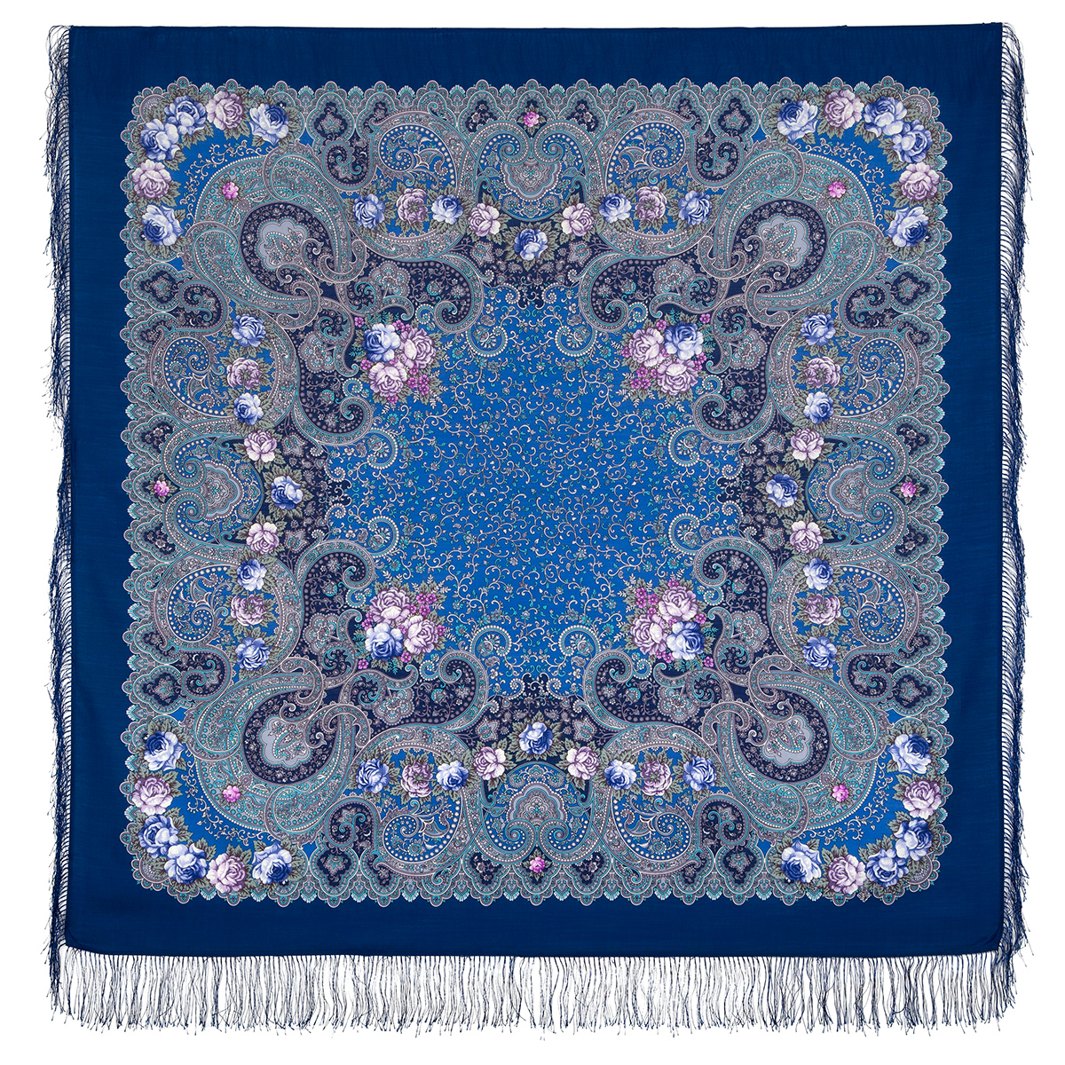 "Russian shawl ""The celebration of the summer 1694-13"""