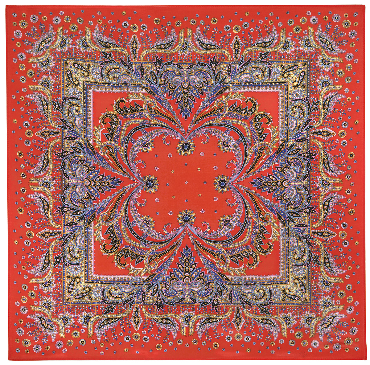 """Russian scarf """"Coral breeze 1603-4"""""""