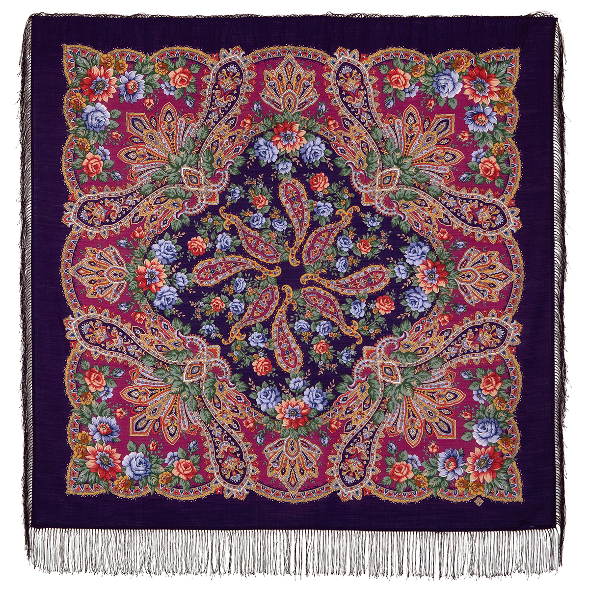 "Russian shawl ""In the rays of the sun 1682-8"""