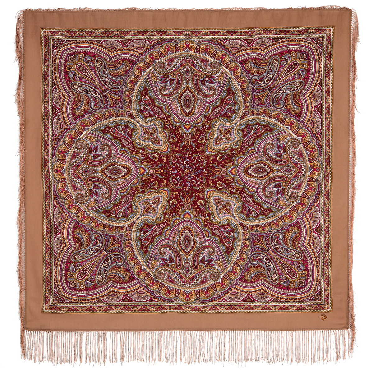 "Russian shawl ""Rain pattern 1695-16"""