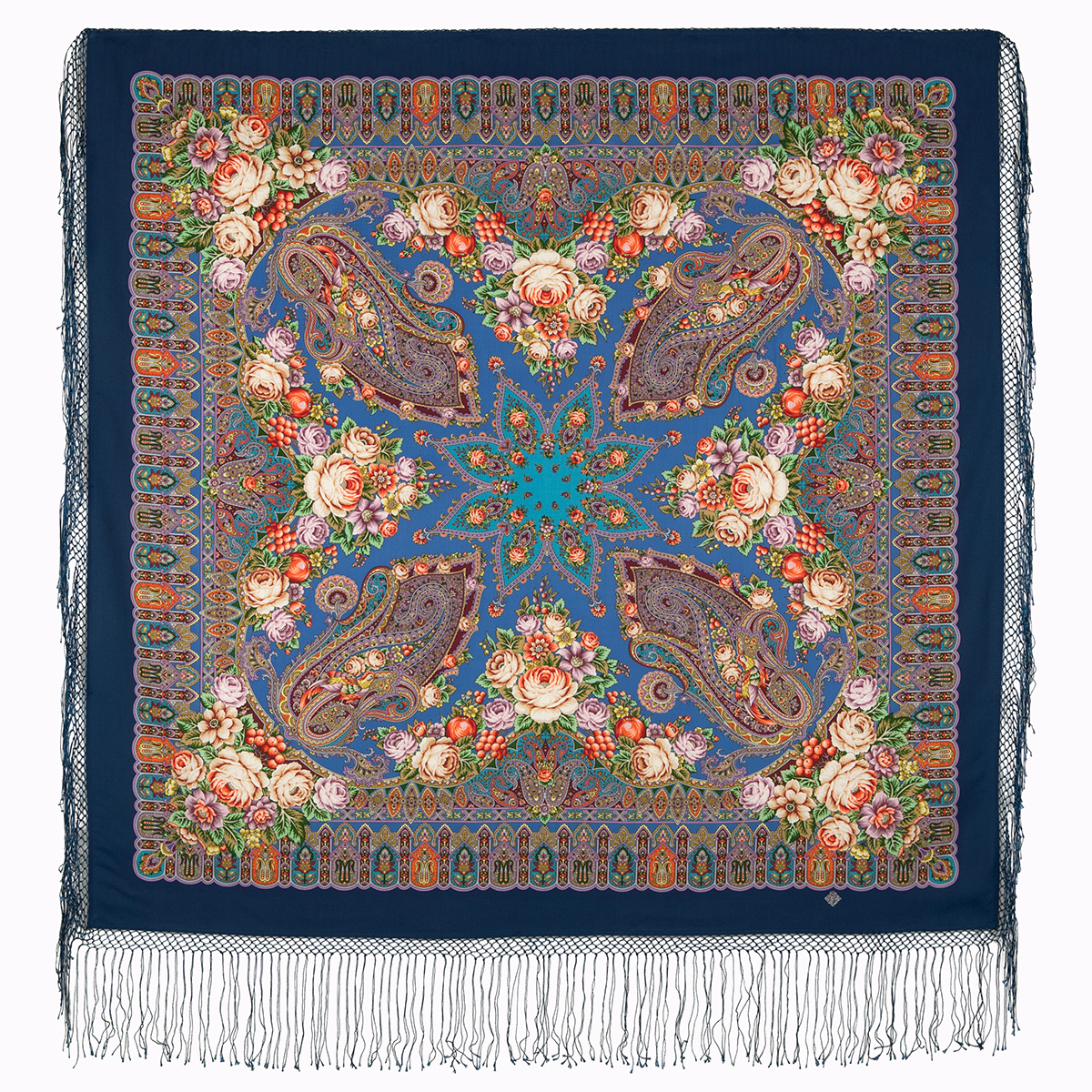 "Russian shawl ""Wondrous dreams garden 1703-14"""