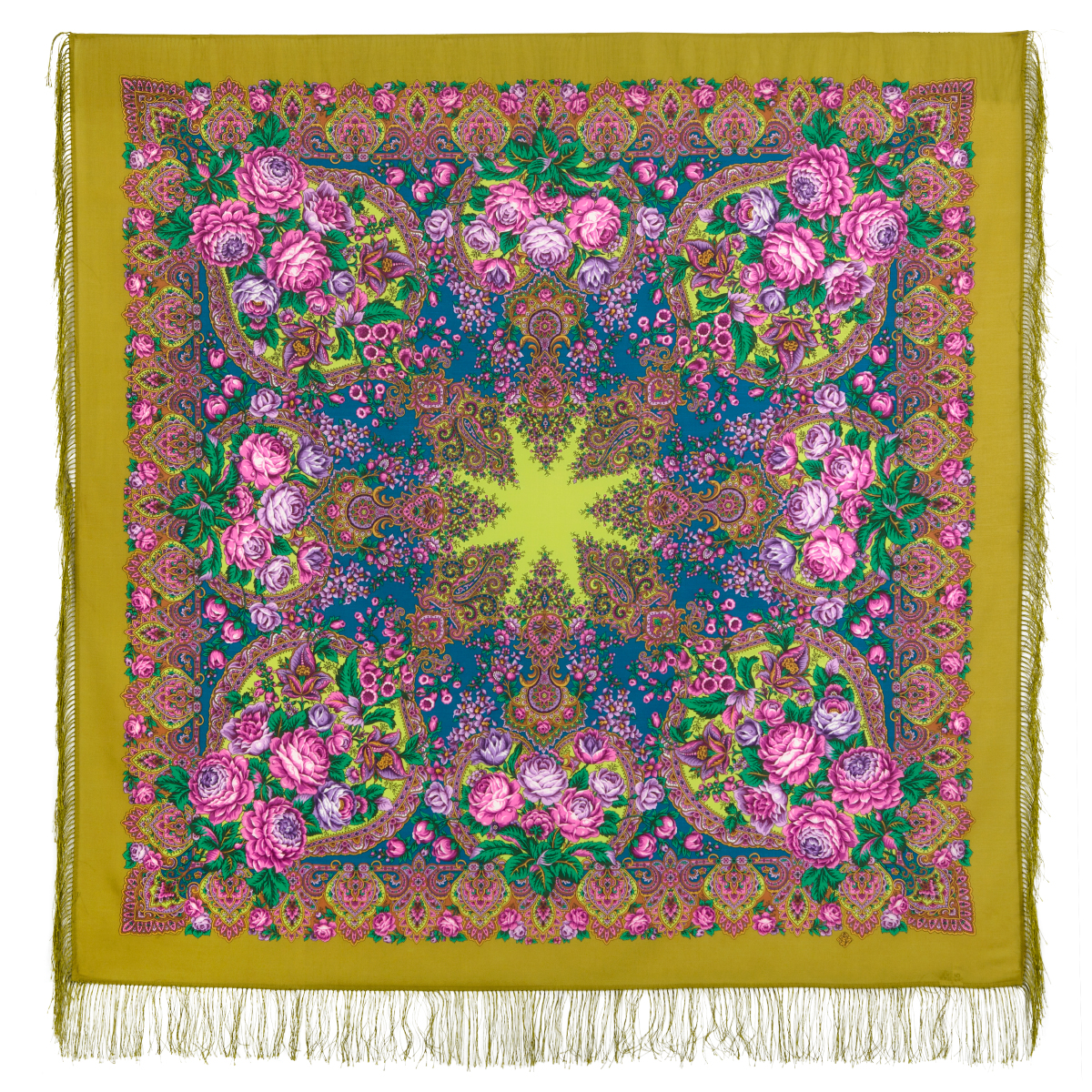 "Russian shawl ""Honey noon 1724-2"""